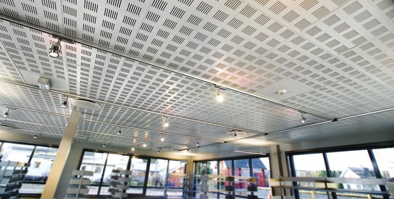 Obra techo registrable yeso laminado gyptone