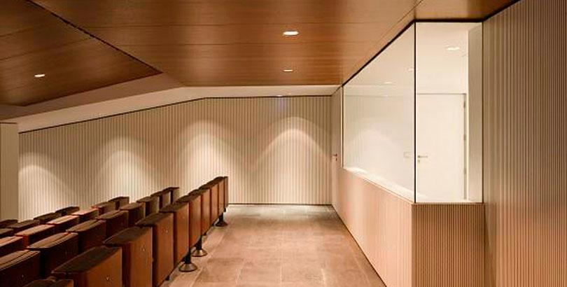 Paneles acísticos madera auditorio