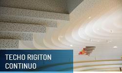 Techo Rigiton continuo - Escayolas Bedmar