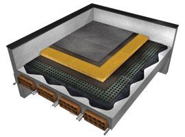 Aislamiento térmico Lana de roca Isover Panel Cubierta Cubierta 150