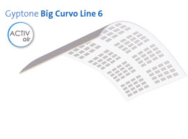 Techo Gyptone big Line 6 curve
