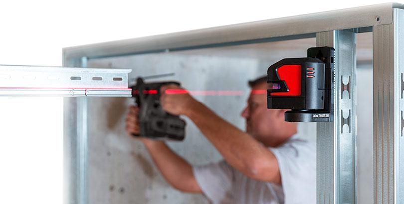 Laser Leica Lino L2-1 soporte